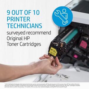 printer technicians recommend hp oem toner cartridges